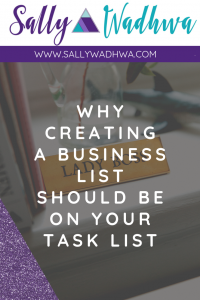 Why creating a business list should be in your task list