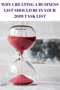 WHY CREATING A BUSINESS LIST SHOULD BE IN YOUR 2019 TASK LIST